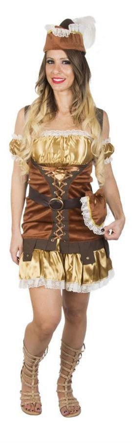 A Fantasia Robin Hood para mulheres, é uma das fantasias para festa mais versáteis para uma noite de diversão. Você pode se tornar uma bela caçadora ou apenas dançar a vontade a noite toda.