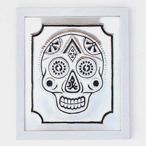 Buy Black Skull Rickshaw Wall Art Frame at Tadpole Store