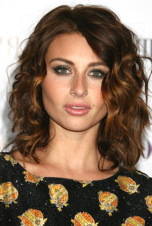 Shoulder length curly hairstyles 2013