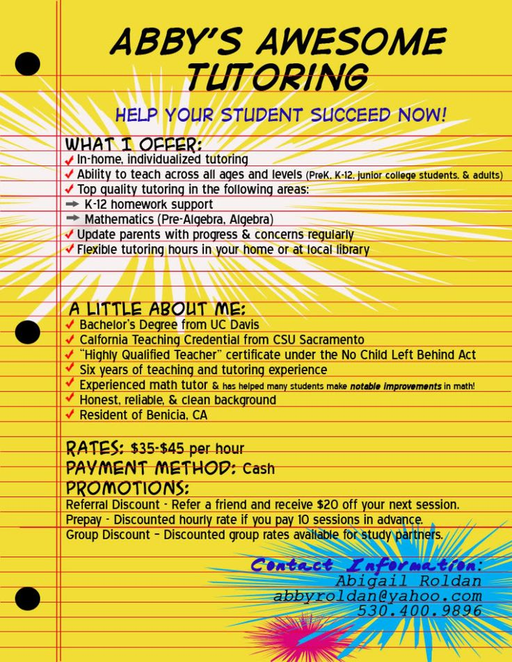 9 best images about tutoring on Pinterest