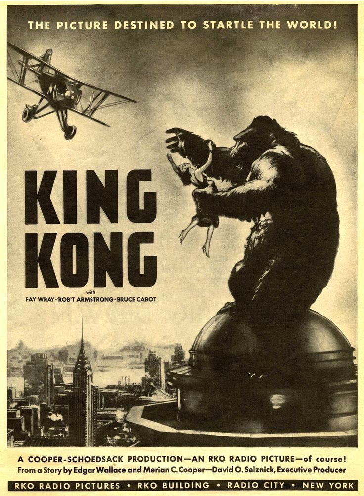 King Kong (1933), destined to startle the world