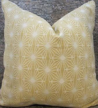Designer Pillow Cover 20 X 20 Starburst Jacquard By 3BModLiving, $49.00