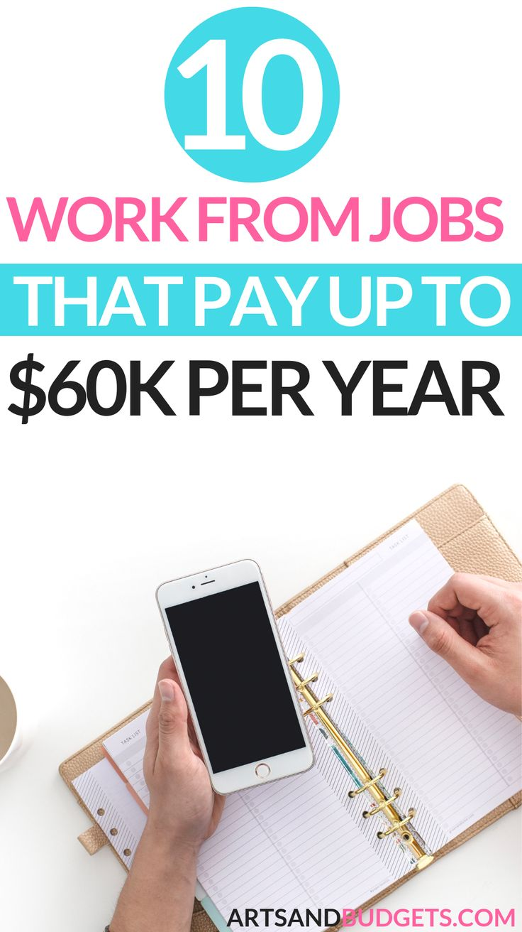 10 Legit Work From Home Jobs That Pay Up To $60k/yr