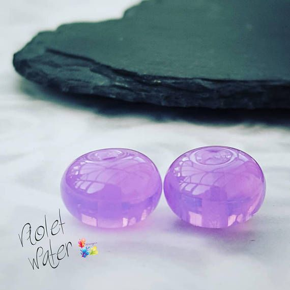 Excited to share the latest addition to my #etsy shop: Lampwork Beads Handmade Water Violet  Lampwork beads made with the most amazing semi opal purple glass.  Trudi x   #glitteringprizeglass #lampwork #glassbeads #handmade #smallbeads #violet #supplies #purple  http://etsy.me/2DKFNqh
