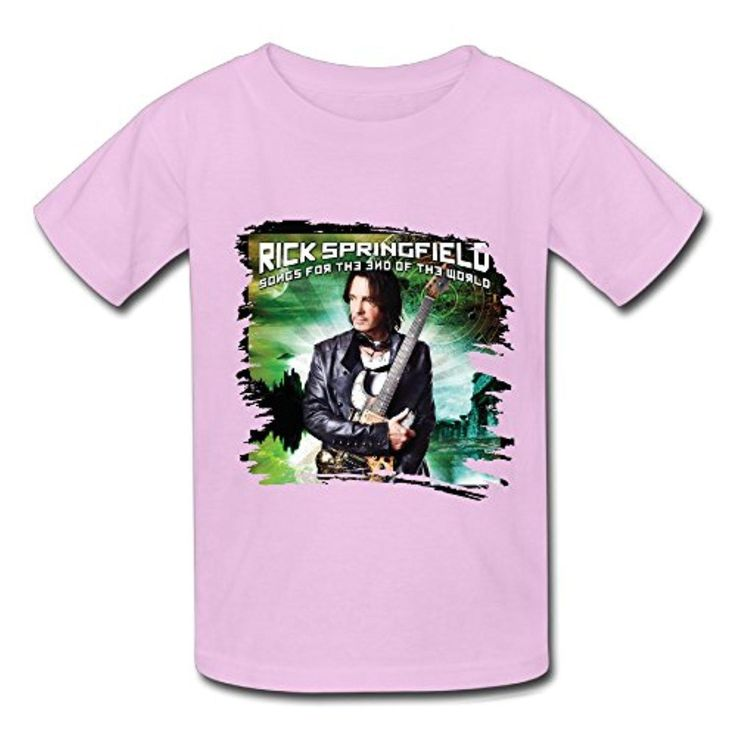 We Love Rick Springfield Tour 2016 T Shirt For Big Boys'Girls' Youths' - Brought to you by Avarsha.com