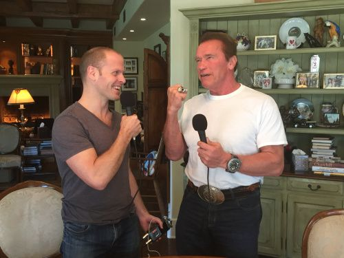 Tim Ferriss did an interview with Arnold Schwarzenegger that turned out to be phenomenal and enjoyable. If you aren't listening to Tim's podcast, you are missing out on some great stuff.  https://itunes.apple.com/us/podcast/the-tim-ferriss-show/id863897795?mt=2