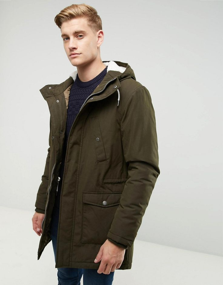 Get this Esprit's parka now! Click for more details. Worldwide shipping.  Esprit Fish Tail Parka With Teddy Lined Hood - Green: Parka by Esprit,  Smooth woven ...