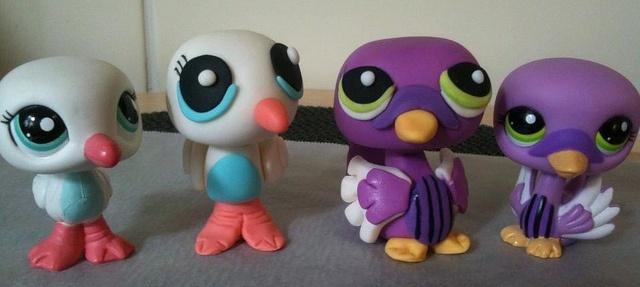 Two 'Littlest Pet Shop' gum paste figurines (centre) by mylittlemod, via Flickr