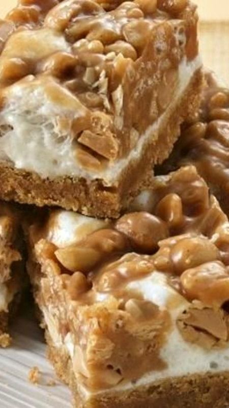 Easy Salted Peanut Chews ~ Easy homemade version of your favorite peanut candy bar!