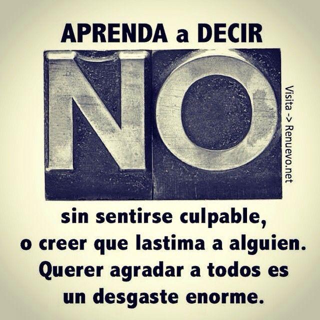 Aprenda a decir NO sin sentirse culpable...