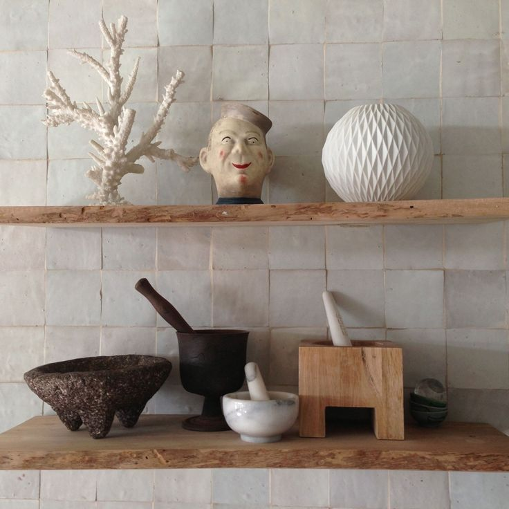 Kitchen collection, live edge wood shelves