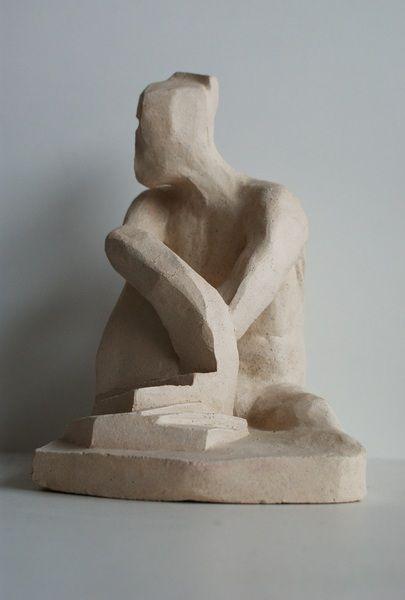 Rzeźba ceramiczna - mężczyzna bez twarzy w Ursu Design na DaWanda.com