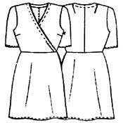 Чертеж выкройки с разметкой платье юбка