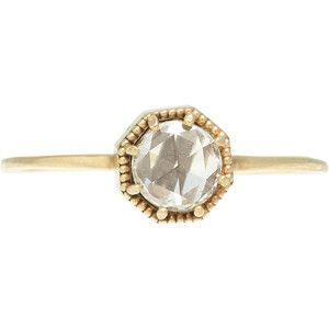 Grace Lee Diamond & Gold Crown Bezel Ring