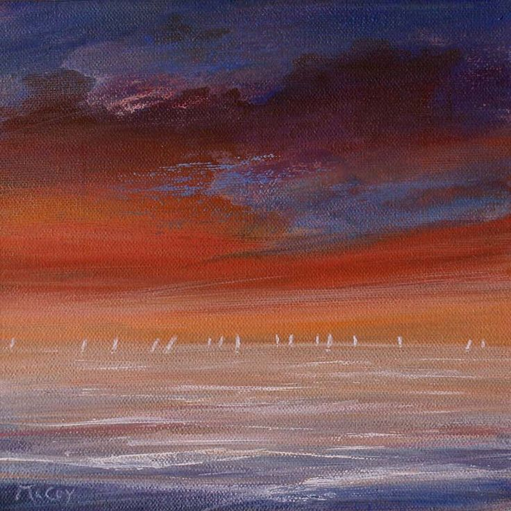 Distant Sails in the Sunset