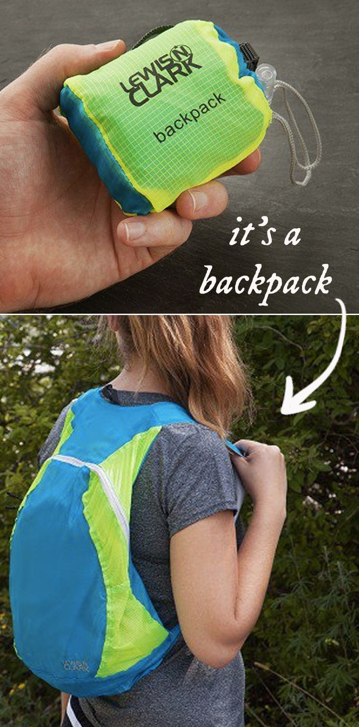 This collapsible backpack folds up small and weighs almost nothing but is still…