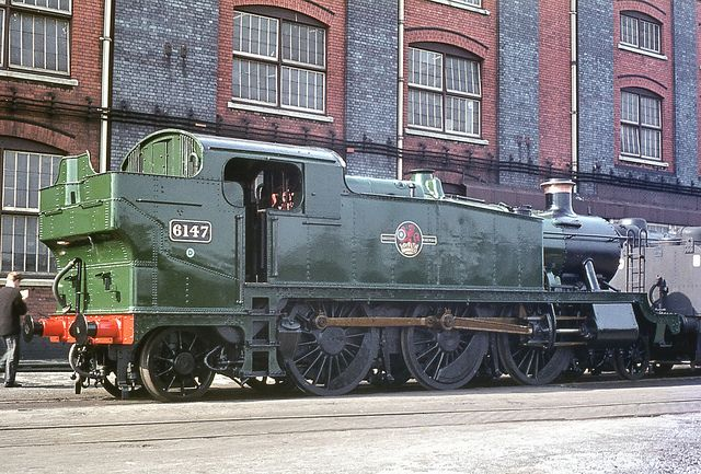64xx Class no.6147. Swindon works. 26 April 1964