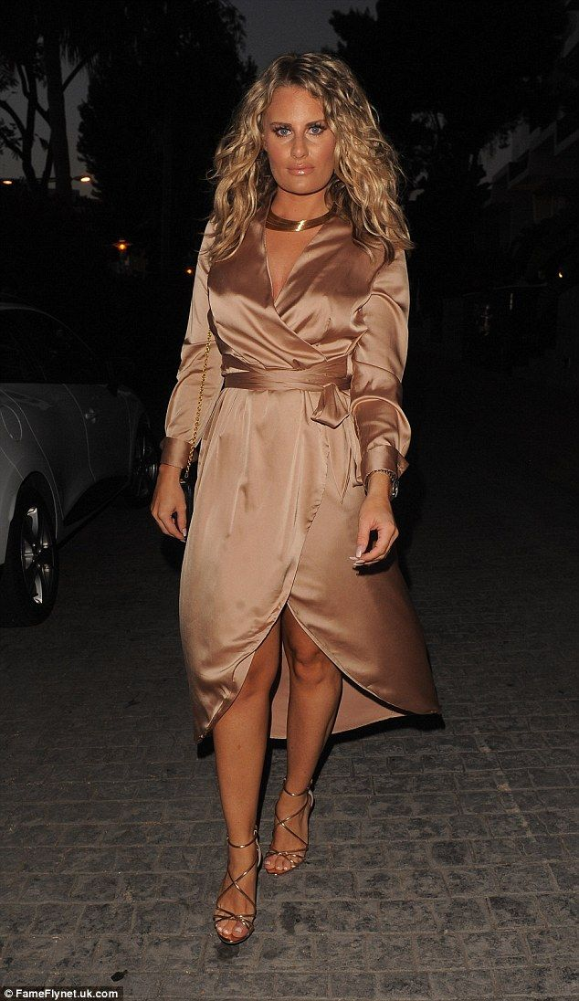 Stylish in silk: Danielle Armstrong ditched her boyfriend James 'Lockie' Lock in order to rejoin the girls