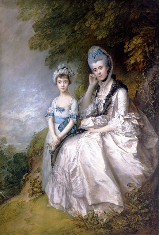 Hester, Countess of Sussex, and Her Daughter, Lady Barbara Yelverton, 1771, Thomas Gainsborough -