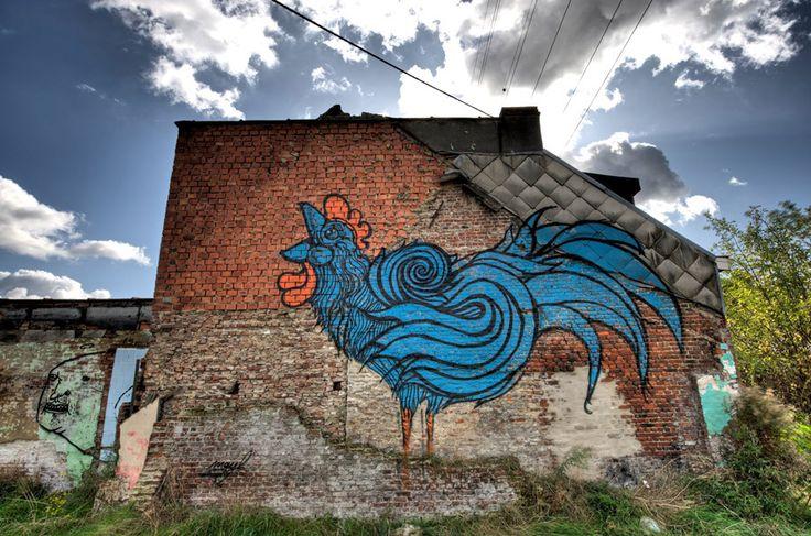 Mayb, Cock, Belgium - unurth | street art #streetart #art #mayb