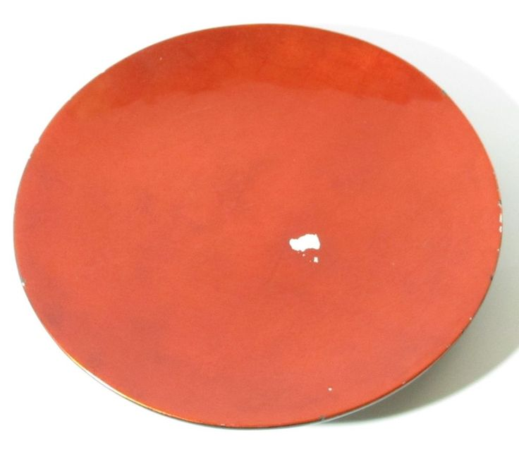 Extra Large Red 18 Inch Charger Plate, Serving Dish, Wood Decorative Plate #Unbranded #Contemporary