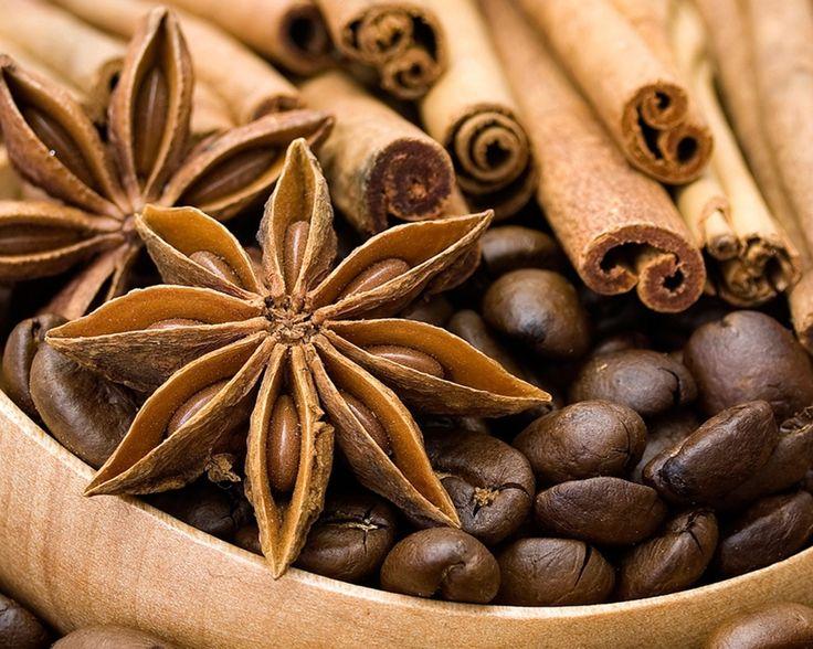 кофе, зерна, бадьян, Анис, пряности, корица