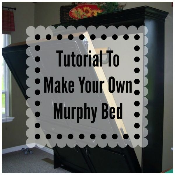 DIY Murphy Bed. Great for small spaces! #smallspaceliving #DIY