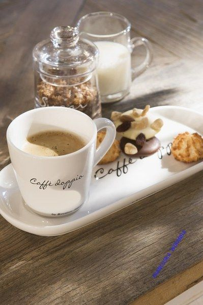Kubek z talerzykiem Caffe Doppio 25,5x11x8 cm