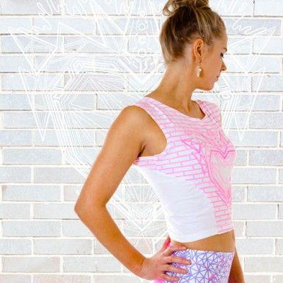 Window Sports Crop Top White/ Pink AU$75. #fashion #women #sportswear