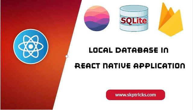 Local Database In React Native Application Web Programming