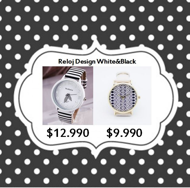 Reloj White&Black Tienda MyFavorite_4d, only beautiful things www.facebook.com/myfavorite4d