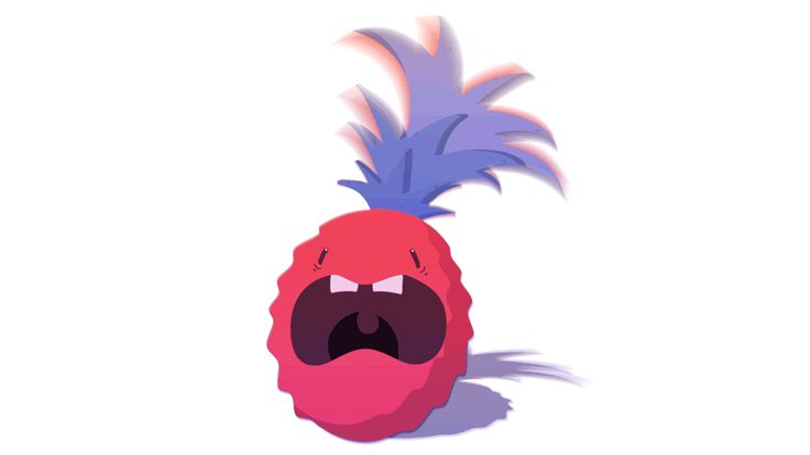 Toby Mattinson Animation – Character designer and concept artist.   Screaming Pineapple GIF #tobymattinsonanimation #pineapple #animation #screaming #design #artwork #doodles #fruit