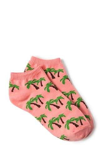 Tropical Palm Ankle Socks | FOREVER21 - 2000065008