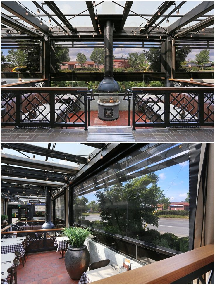 #Restaurant #patio With Clear Vinyl Motorized Screens Allows The Patio To  Be Used Year