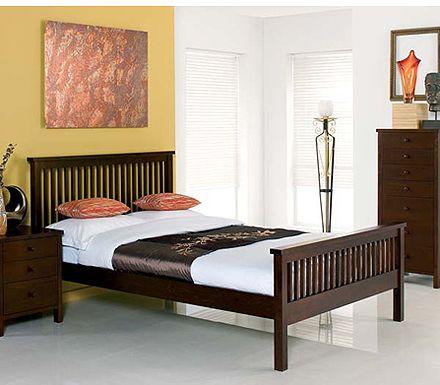 Atlantis Deep Oak Kingsize Bed Furniture123