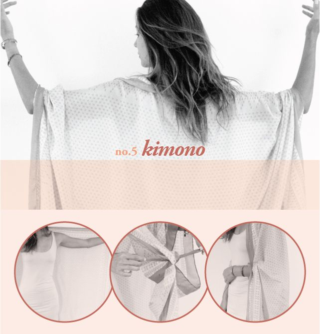 how to wear a scarf as a kimono
