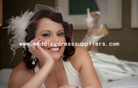 BIR-09034 New Feathered netting Bridcage Wedding Veils Netting Veils