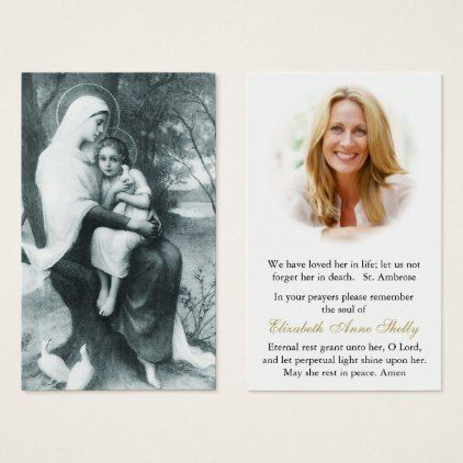 #Funeral Prayer Card | St Anne & Child Mary - #office #gifts #giftideas #business