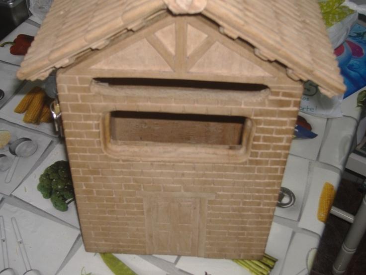 Buzon de correos carpinter a en madera hecho por m - Buzon de correos ...
