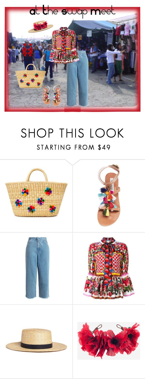 """""""At The Swap Meet"""" by theitalianparisian ❤ liked on Polyvore featuring Nannacay, Steve Madden, Zimmermann, Dolce&Gabbana, Janessa Leone, Rock 'N Rose and Humble Chic"""