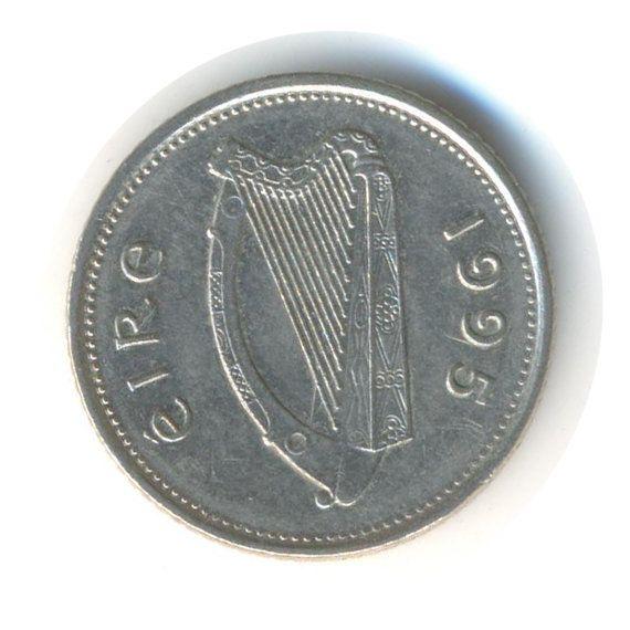 Irish 10 Pence 1995 Vintage Coin Code:JMC1262 by JMCVintagecards