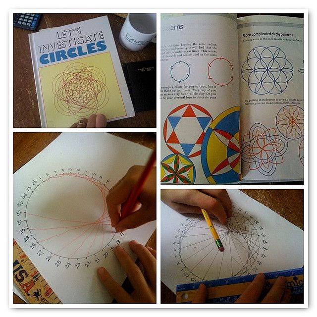 Waldorf ~ 6th grade ~ Math ~ Geometry ~ Circles Check out www.NYHomeschool.com as well.