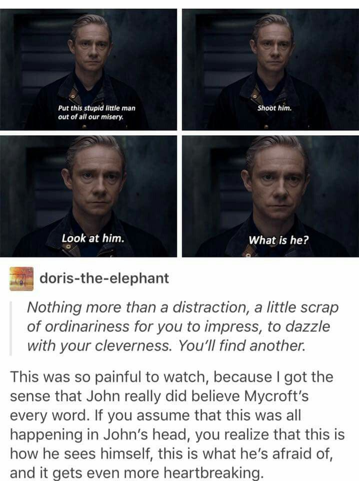 "This was the scene where I started to believe the ""this is John's Mind Place"" theory. Because as amazing as John really is THIS is how he sees himself."