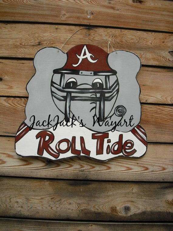 Wooden Alabama Door Hanger Crimson Tide Door By