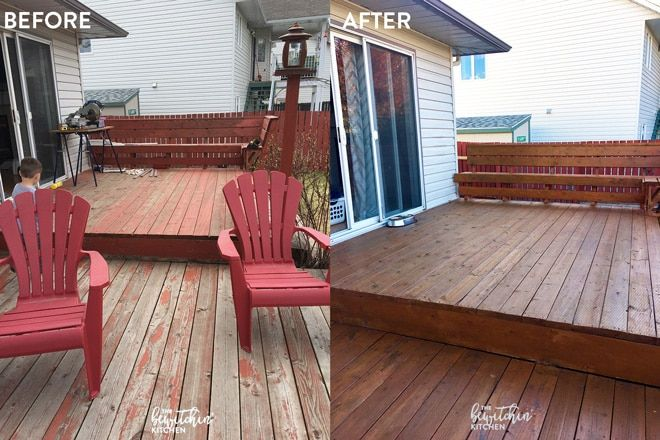How To Stain A Deck In 4 Easy Steps Home Deck Stain