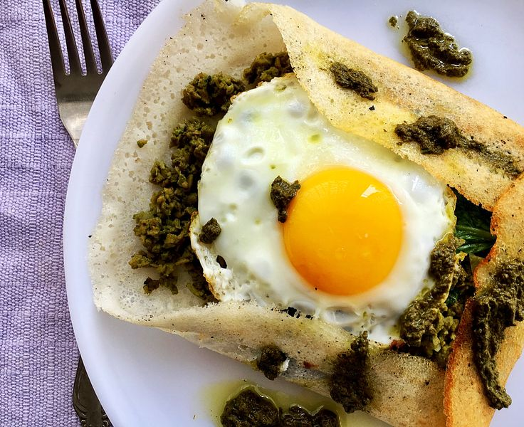 Pesto Soy Dosa #food #healthy