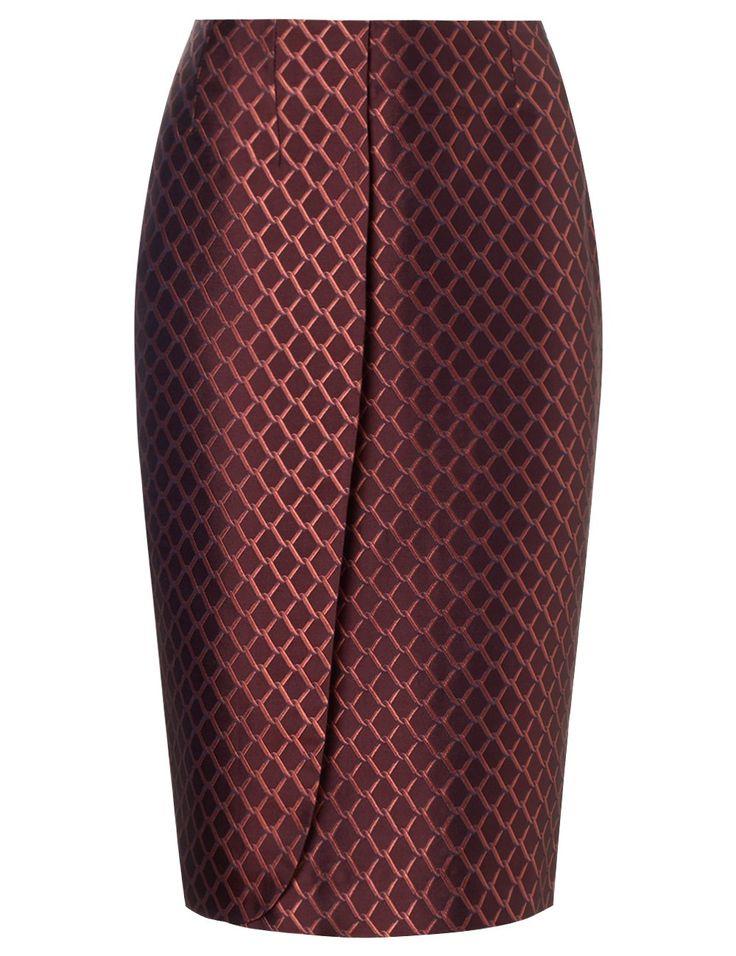 Red Silk Tenisha Skirt | Alexander Lewis | Avenue32
