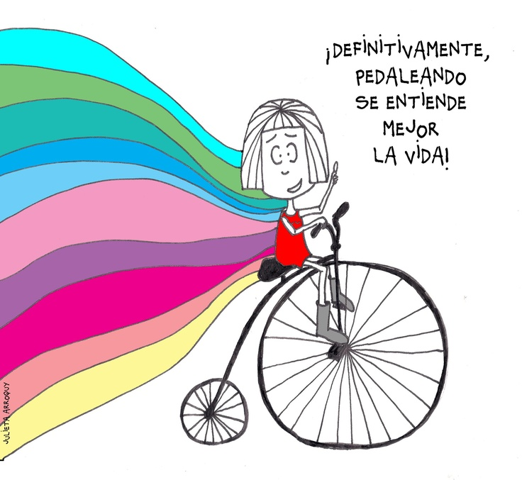 pedaleando...