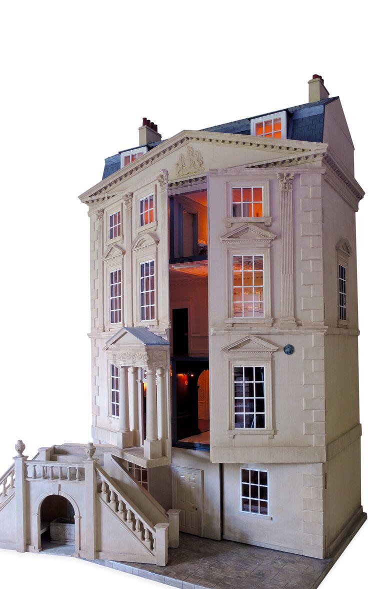 Images of doll houses - Handmade Classic English Unfurnished Dollhouse By Mulvany Rogers Moda Operandi I Look At This And Think Of Netherfield House In Pride And Prejudice