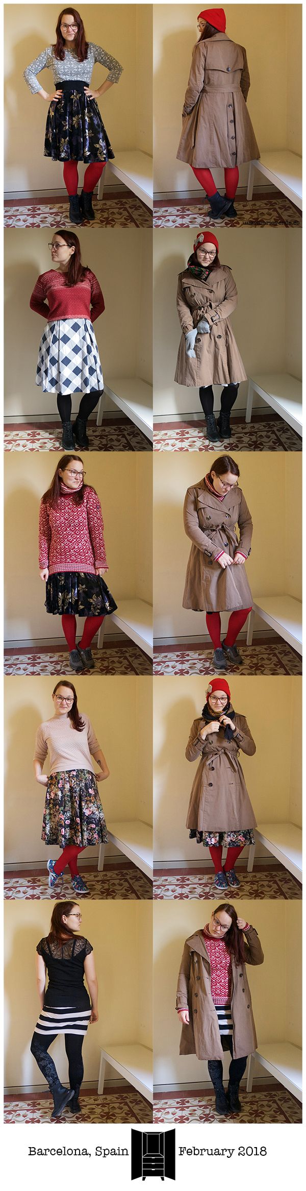 unarmarioverde.es - Winter 2018 capsule wardrobe outfits - February 2018 - Barcelona, Spain